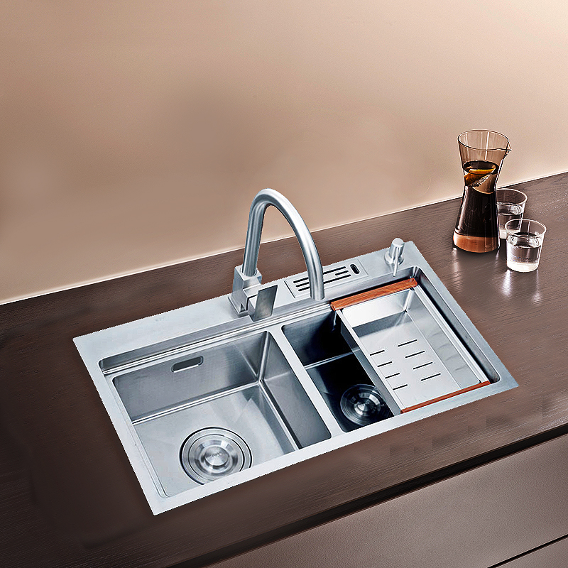 8245 stainless steel double kitchen sink,sink strainer,basin sink faucet