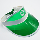 2018 Wholesale Custom green plastic Sun Visor