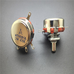 High quality WTH118-2W470K single loop precision synthetic carbon film potentiometer power adjustable potentiometer