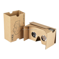Customizable Cardboard Headset 3D Virtual Reality VR Glasses Goggles For Android iPhone Samsung Huawei Smart Phone Mobile Phones