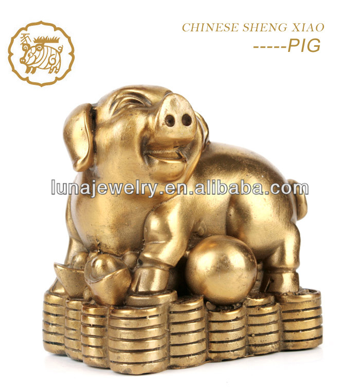 Fabulous Hong Tze Collection-Triple Chinese zodiac animals Chinese Horoscope Pig