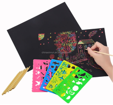 DIY Educational craft toys scratch art for children