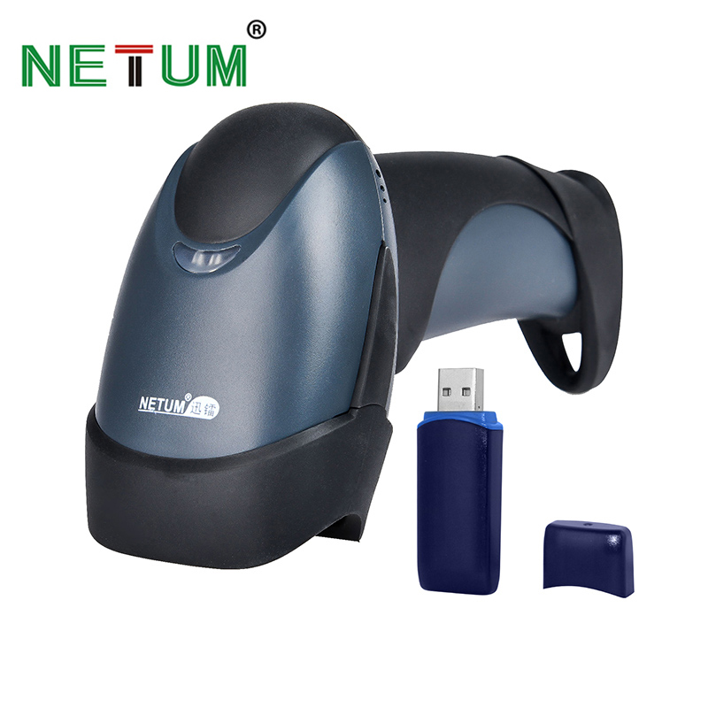 NT-M2 Bar Code Reader Manufacturer Fast Reading 1D Laser Wireless Barcode Scanner with remember