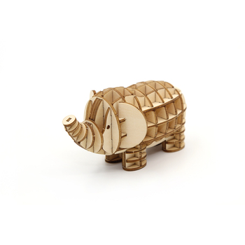 Popular 3D Wooden Puzzle Animals Elephant Kids For Friends