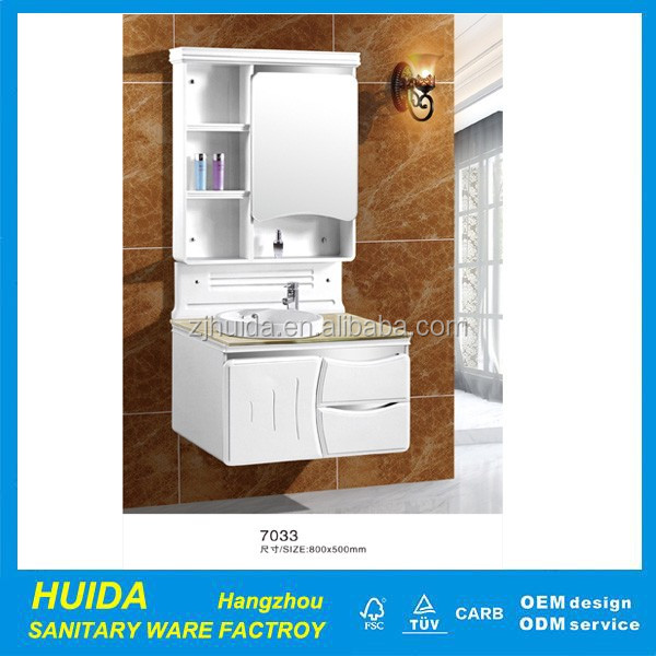 Wholesale Hangzhou PVC Bathroom Vanity Mirror Cabinet