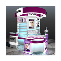 Cosmetics display cabinet barber shop beauty shop skin care products showcase nail shop