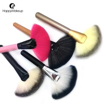 wholesale synthetic hair large single makeup fan brush facial brushes