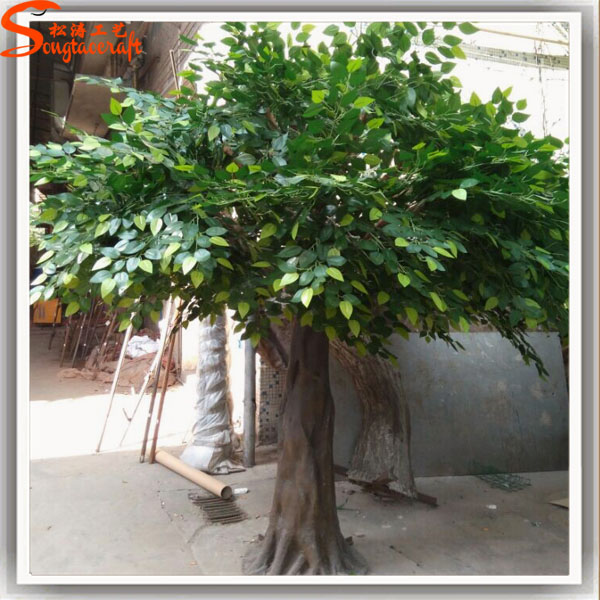 Grandes rboles artificiales pl stico tocones ficus for Plastico para estanques artificiales