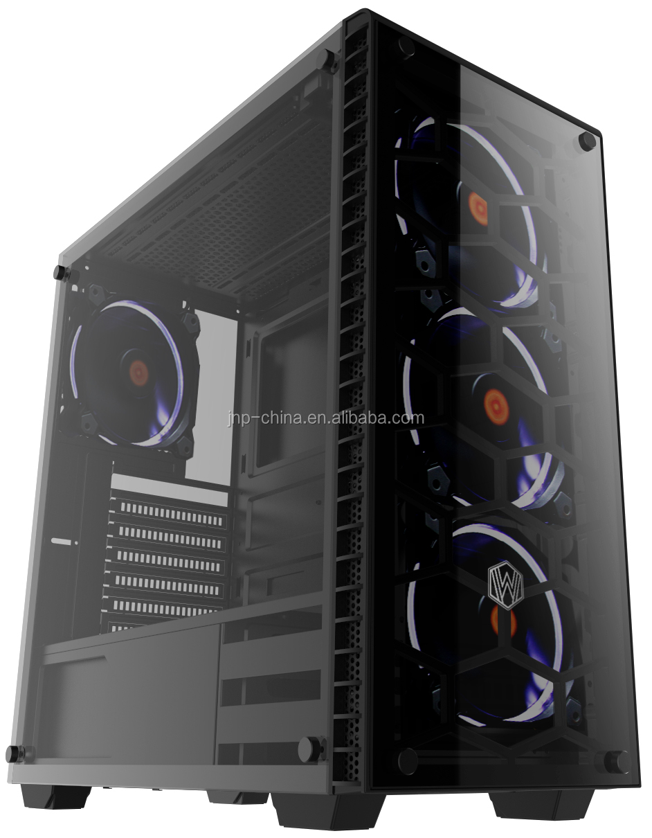 Hot Selling Usb3.0 Gaming Design Atx Computer Case With Tempered