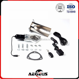 Electric Stainless Exhaust Cutout with Remote control Pipe Exhaust 2.5''/63mm