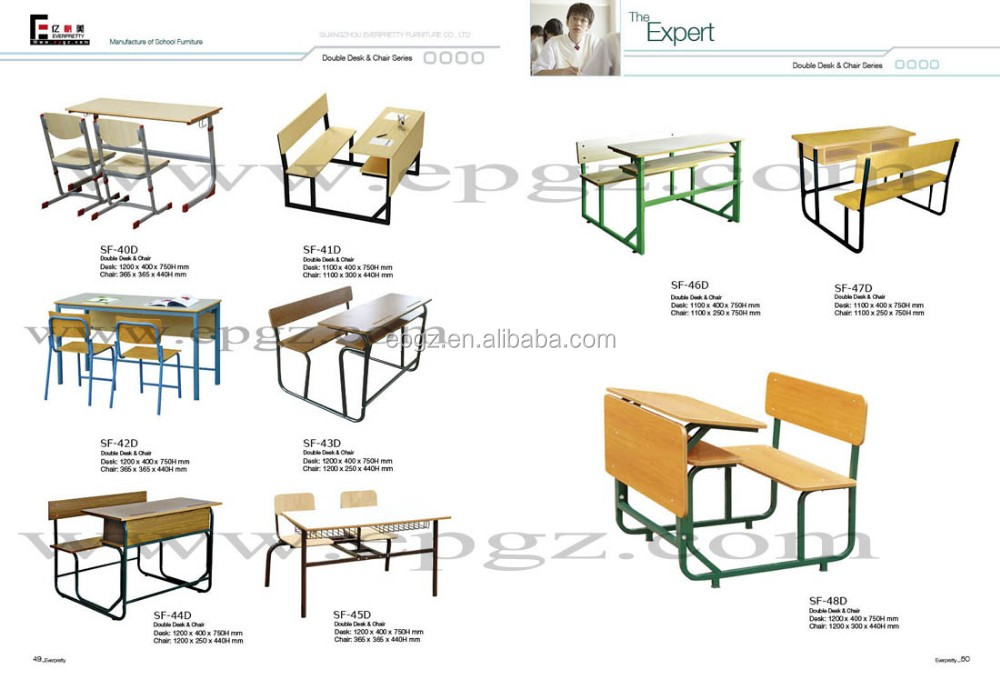 List Of Classroom Furnitures : Modern educational furniture malaysia student table and