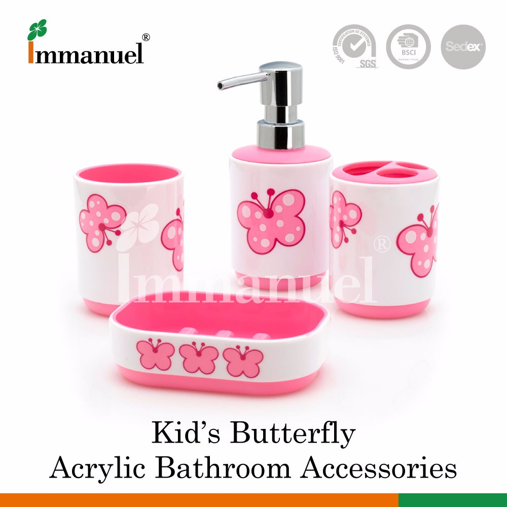 Plastic bathroom sets - Pink Acrylic Bathroom Accessories Set Pink Acrylic Bathroom Accessories Set Suppliers And Manufacturers At Alibaba Com