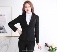 2017 Juqian long sleeve clothes women stripe elegance cotton polyester ladies 2 piece suit for women