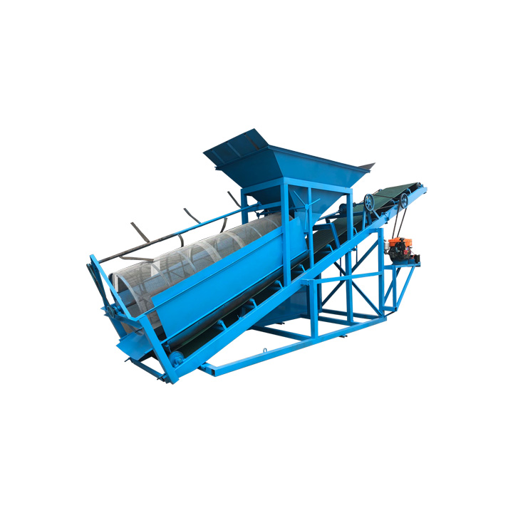 Good quality diesel sand screening equipment for concrete mixing plant