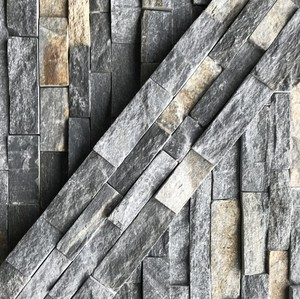 Blue Quartzite Meshed Cement Back Decorative Wall Cladding/Stone Exterior Wall/Stone Veneer Sheet