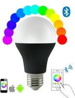 Smart LED Light bulb Bluetooth,Smartphone controlled Dimmable Multicolored Color Changing LED lights