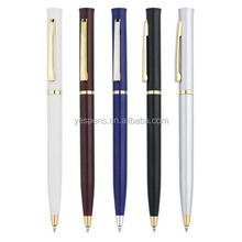 slim plastic black hilton ball pens for hotel promo pens,sheraton pen