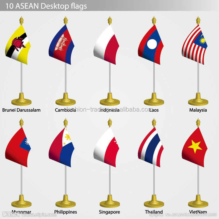 Desk/table Flag Indonesia Flag Monaco Flag