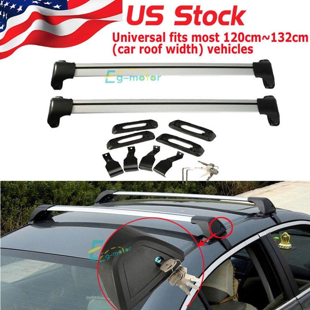Get Quotations · Kayak Roof Racks For Cars Cross Bars Aluminum Car Top  Luggage Cargo Roof Rack Cross Bar