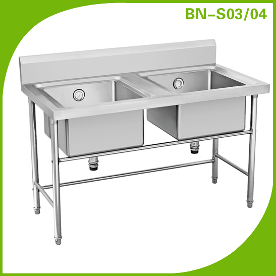 Commercial Industrial Stainless Steel Double Kitchen Sink/inox Kitchen Sink  Bn S03/04   Buy Double Basin Stainless Steel Kitchen Sink,Inox Kitchen Sink  ...