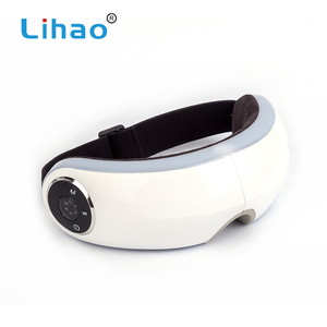 LIHAO Tool Customized White Home Eye Roller Infrared Heating Massager Glasses