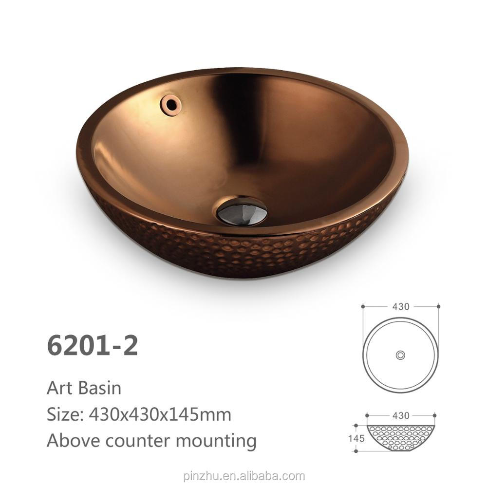 New Model Ceramic Copper Sink Basin For Bedroom Toilet Basin Combination