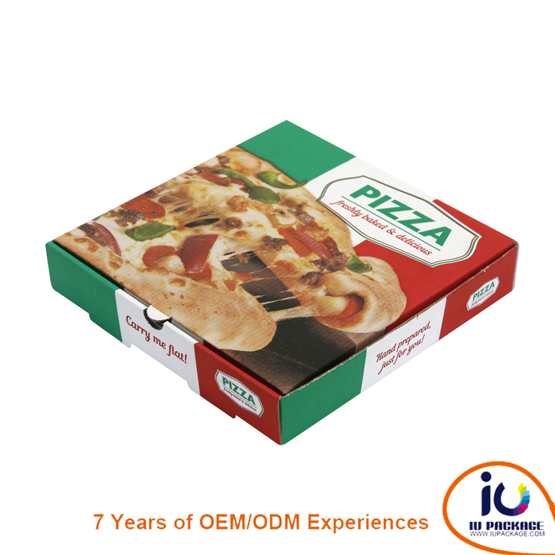 Custom printed white octagon pizza box supplier