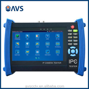 Customized Modules 7'' LCD Display Battery WIFI Onvif H.264 IP Camera CCTV Monitor Tester