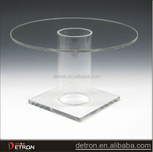 clear hot sale pedestal display risers round table