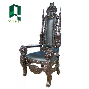 strong antique king chair for wedding made in Guangdong