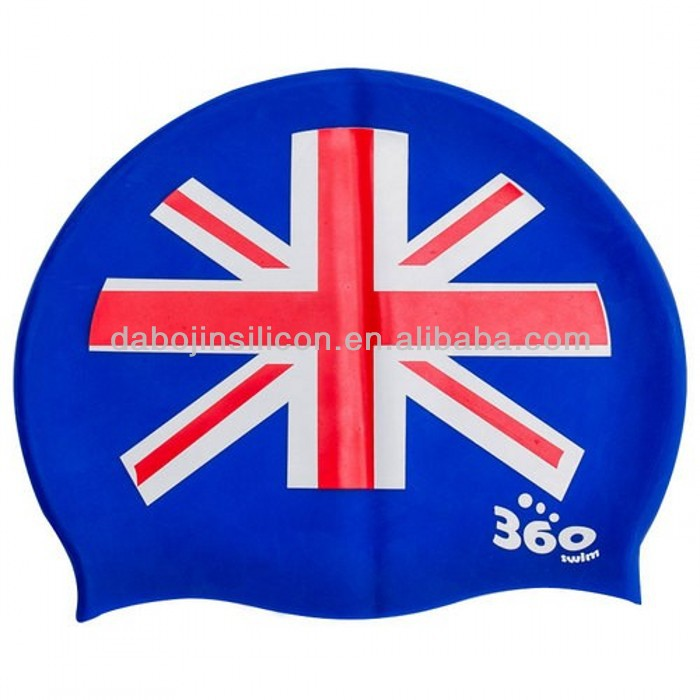 Italy Country Flag Patriotic Silicone Swimming Caps With Cerohs
