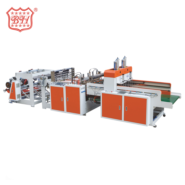 Baihao Chinese Manufacturers Monochrome Vest T-shirt Plastic Bag Making Machine