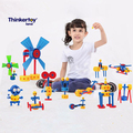 62pcs Thinkertoy construction set toys montessori materials brinquedos oyuncak building educational blocks bricks minifigures