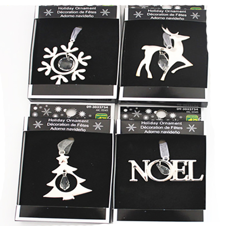 christmas tree ornament set silver alloy angel heart bell star love faith noel