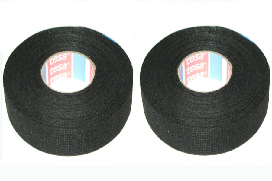 2Pcs 19mm x 25m Wiring Loom Harness Adhesive Cloth Fabric Tape Cable Loom