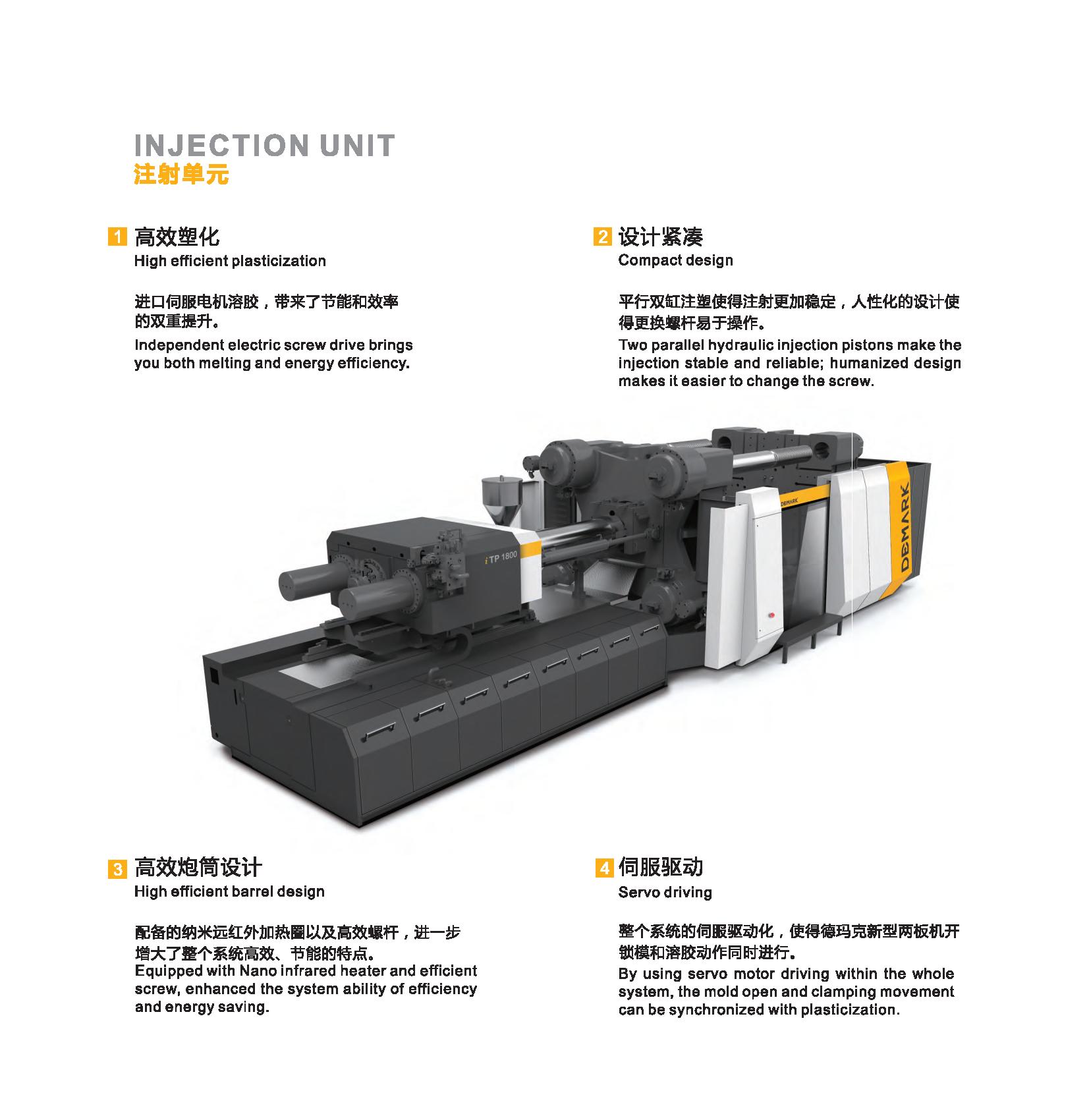 ITP 1100 Zwei-Platten-Servos, energiesparende, horizontale Spritzgießmaschine aus Thermoplast