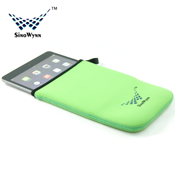 Green Color Neoprene Case for iPad Customized Neoprene Products Bags on sale