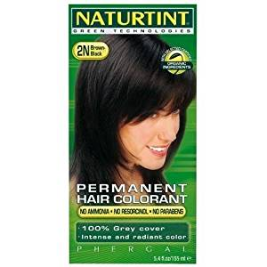 NATURTINT HAIR COLOR,2N BLACK BROWN, 5.28 FZ