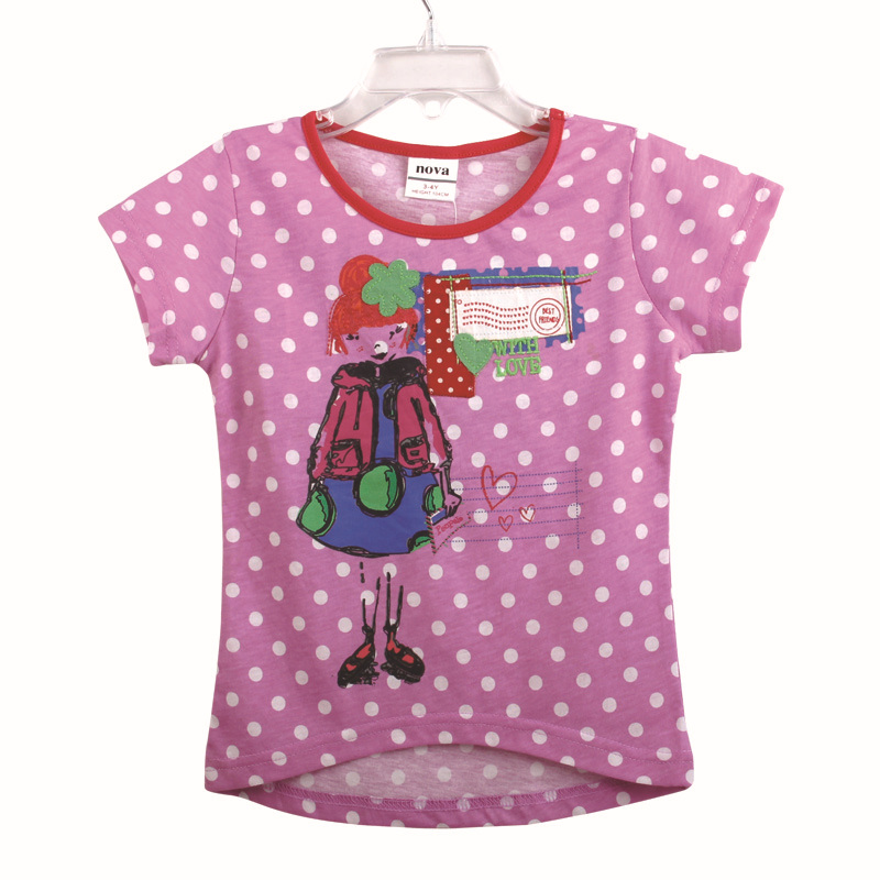 kids clothes girls t shirts cartoon printed girls clothes children t shirts summer style short sleeve t shirts for girls K3878