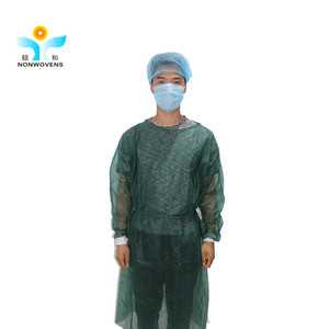 YIHE Disposable single use Medical PP SMS nonwoven hospital Isolation visitor Gown