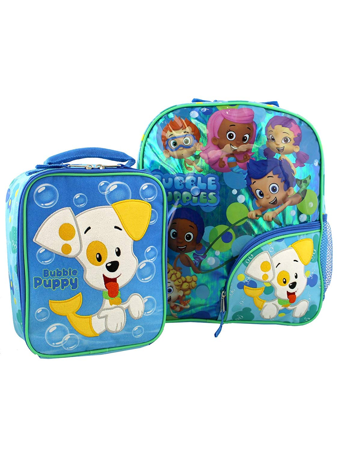Bubble Guppies Toddler Boys Girls 14 Inch Backpack and Lunch Box School Set  (Blue  27da74d1b0cd7