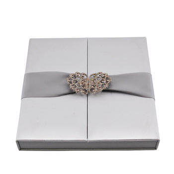 Wholesale Silk Wedding Invitation Boxes