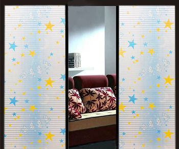 Pentastar Design Glass Door And Window Film Scrub Stickers Morphological  Wall Stickers
