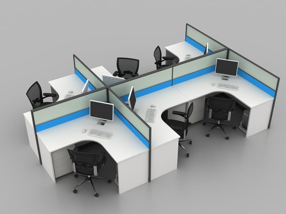 azul blanco asiento moderno mobiliario de oficina para al por mayor