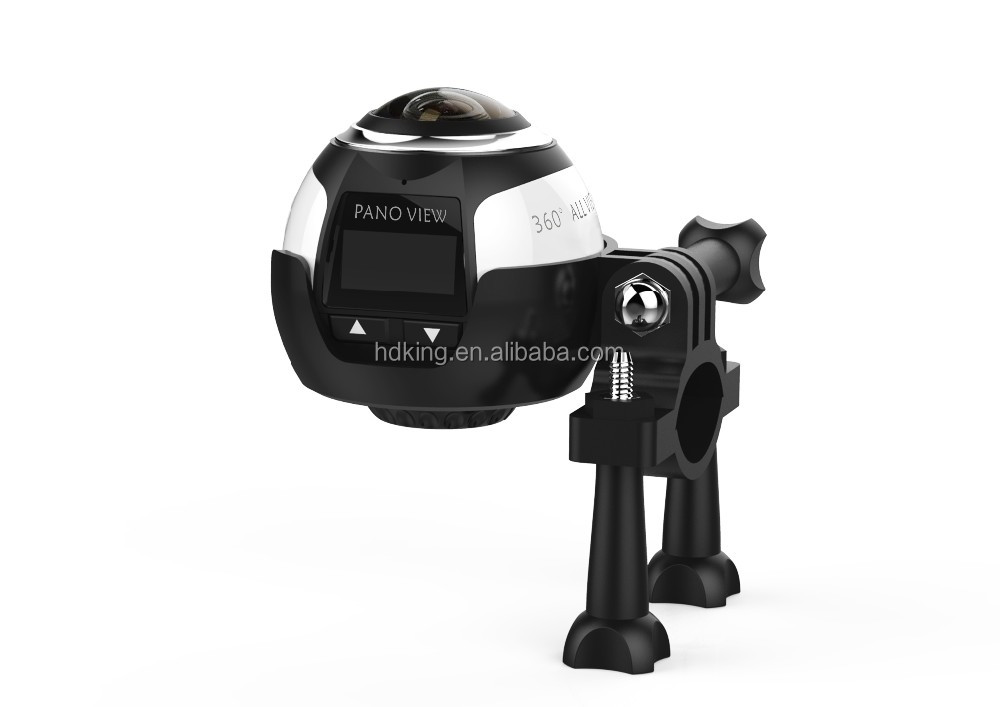 HDKing new product mini camera 360 degree 4K Black panoramic wireless waterproof action camera