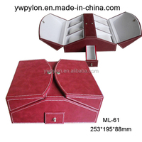 Newly design professional alibaba china supplier leather jewelry case