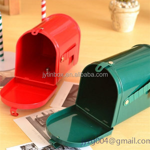 Direcrt factory sale mailbox shaped tin box for packaging/mail box tin can
