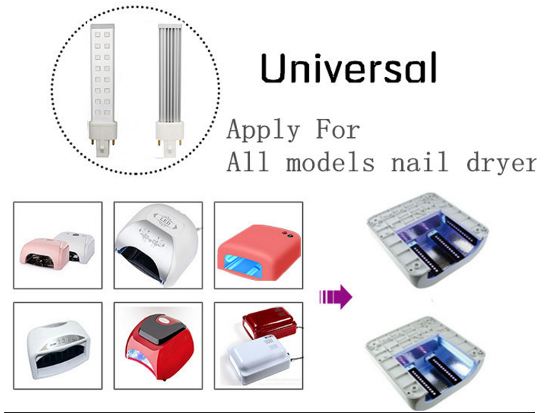 ShengHui Attractive Price New Type 6W 9W 12W 395nm-400nm Nail Lamp uv light