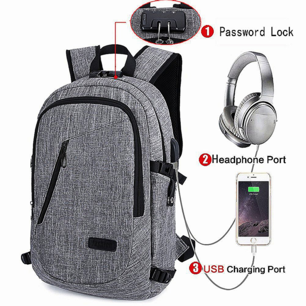 801f1a9c068f Get Quotations · Business Laptop Backpack with USB Charging   Headphone Port  and Password Lock