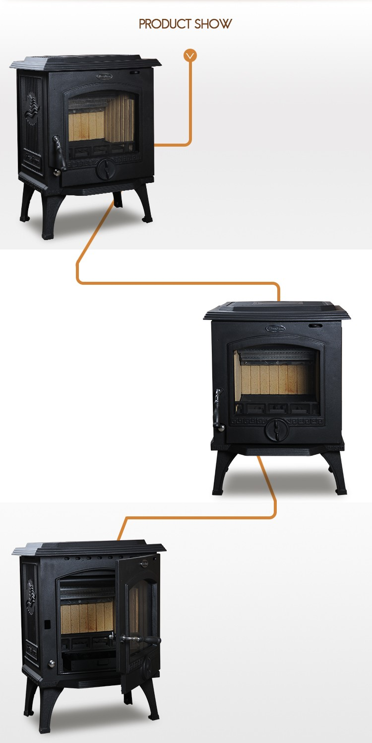 Chinese manufacturers insert stove cast iron material wood burning fireplace